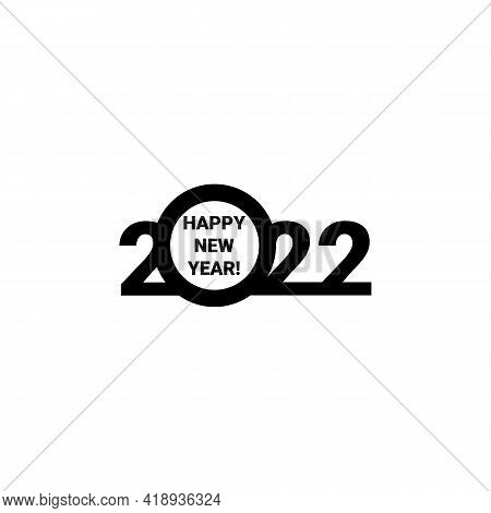 Happy New Year 2022 Text Design. Cover Of Business Diary For 2022 With Wishes. Brochure Design Templ