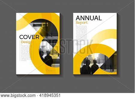 Yellow Circle Cover Abstract Background Modern Design Modern Book Cover Brochure Cover  Template,ann