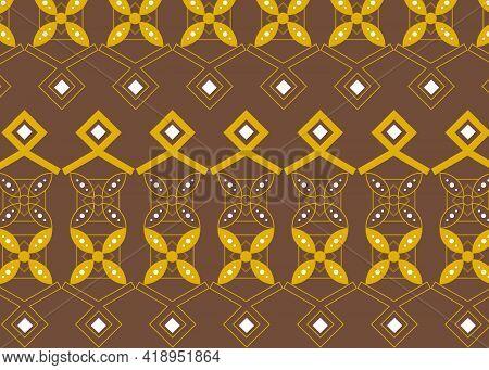 Decorative Floral Indonesian Batik Patterns Design Background