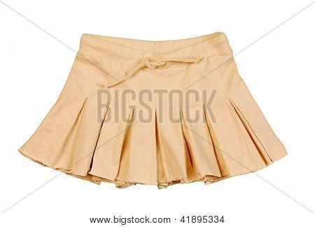 yellow miniskirt