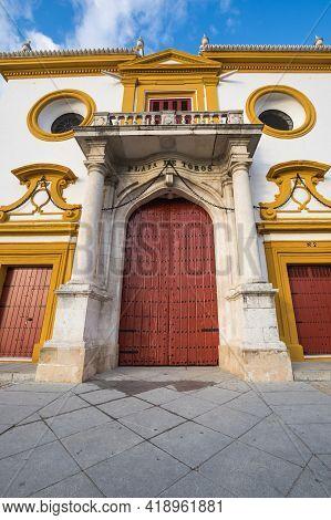 The Plaza De Toros De La Real Maestranza De Caballeria De Sevilla Is Bullring In Seville, Spain