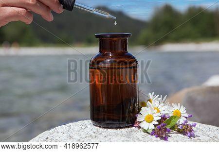 Bach Flower Remedies - Dropper Bottle Of Essential Oil.