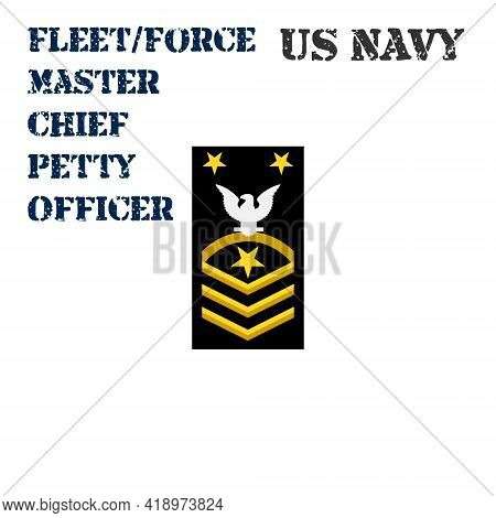 Realistic Vector Icon Of The Armband Chevron Of The Fleet Force Master Chief Petty Officer Of The Us