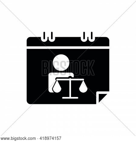 Calendar And People Icon With Law. Law Abiding Day Icon. Editable Stroke. Design Template Vector