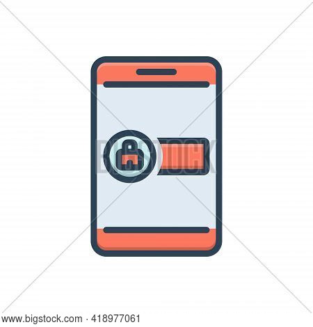 Color Illustration Icon For Sign-in Sign In Admission Entrance Entry Penetration Admittance