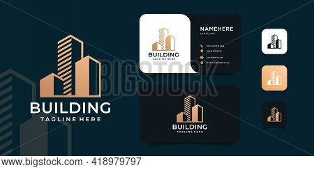 Modern Architecture Building Real Estate Logo Vector Concept. Logo Can Be Used For Icon, Brand, Iden