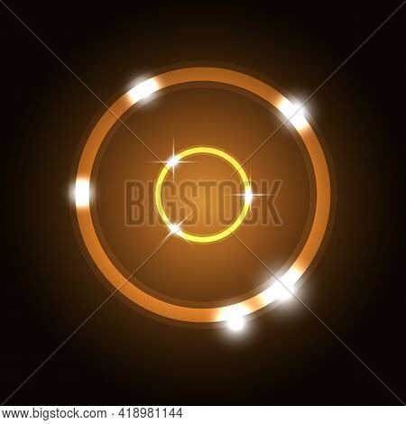Abstract Background With Orange Circles, Stock Vector