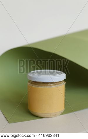 Peanut Butter In Closed Jar Almond Cashew Or Peanut Butter In Closed Jar