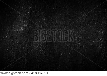 Black Old Paper Rough And Crumpled, Wrinkled, Aged, Ancient For Texture Background
