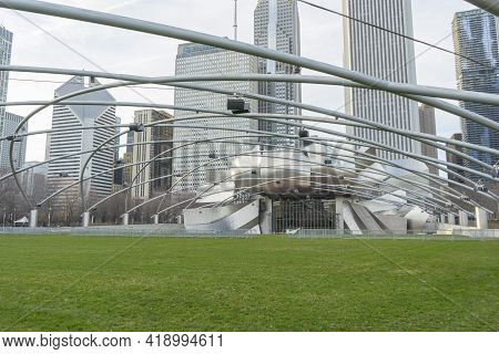Chicago, Illinois (usa) - April 22,2018 : Jay Pritzker Pavilion In Summer At Millennium Park In Chic