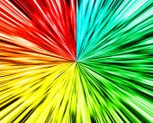 Abstract multi color wave background with color full background poster