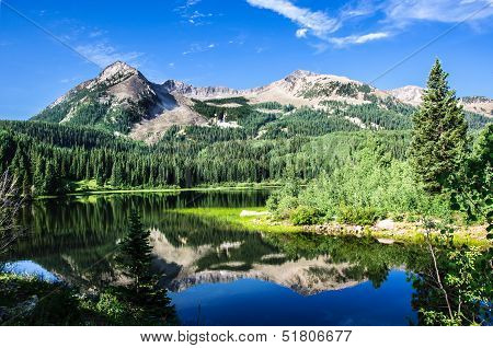 Colorado Lake And Mountains