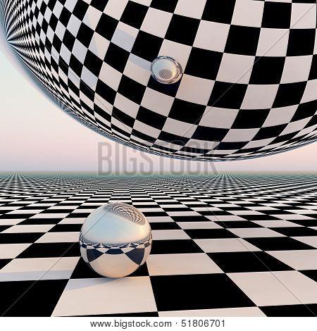 Checkered Surreal Horizon