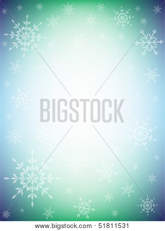 Colorful Winter Background