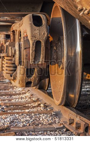 Freight Train And Track