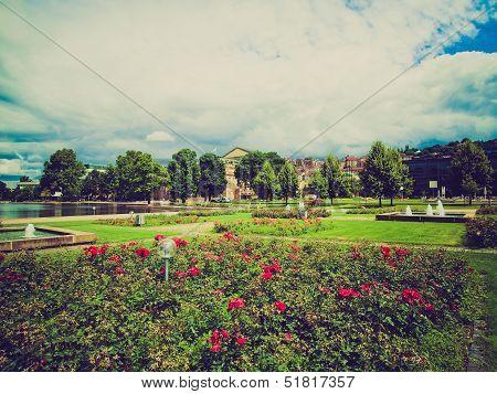 Retro Look Gardens In Stuttgart Germany
