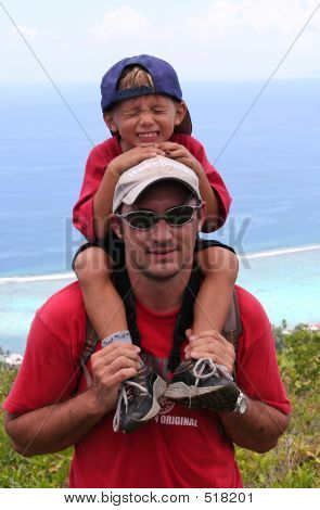 Father And Son Trekking