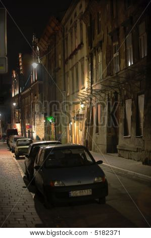 A Romantic Night Photo From The Old Part Of Krakow