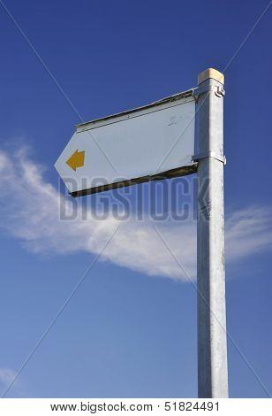 faded public footpath sign