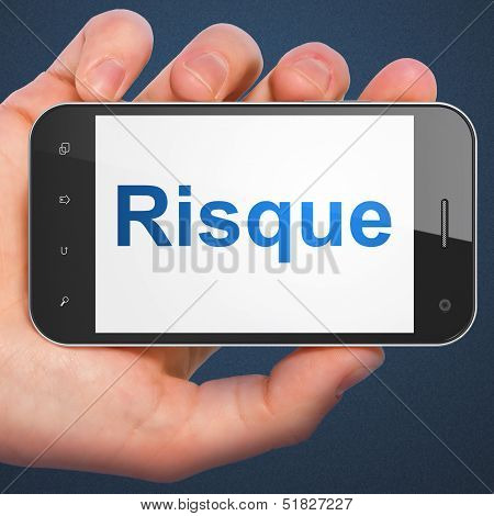 Finance concept: Risque(french) on smartphone