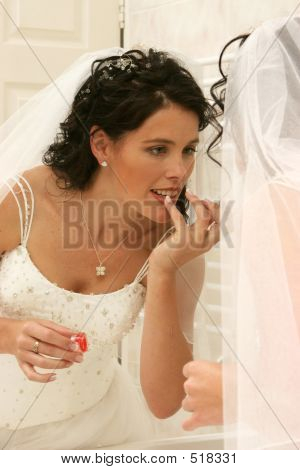 Wedding Bride Doing Makeup