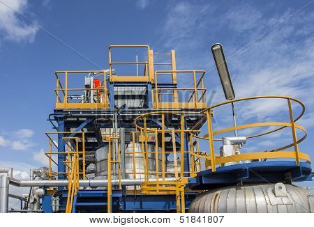 Blue Structure In Factory