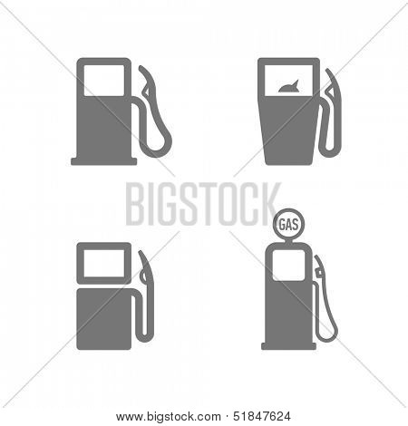Gas pump icons. Vector.