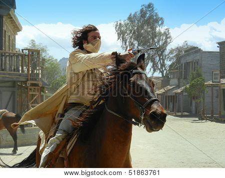 A fighting cowboy