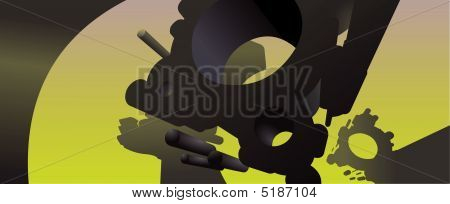 Abstract 3D Vector Background A