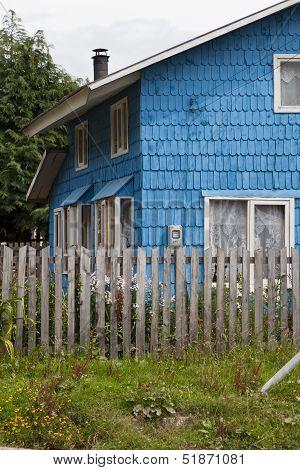 Traditional Patagonian House At La Junta.