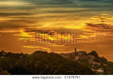 Romantic Tuscany Clouds