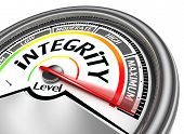 integrity conceptual meter indicate maximum isolated on white background poster