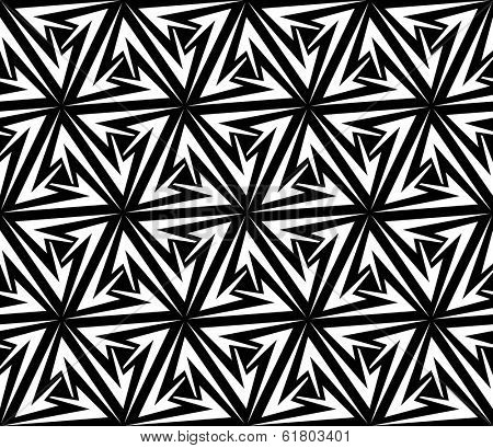 Aggressive Arrows Seamless Pattern. Vector Illustration