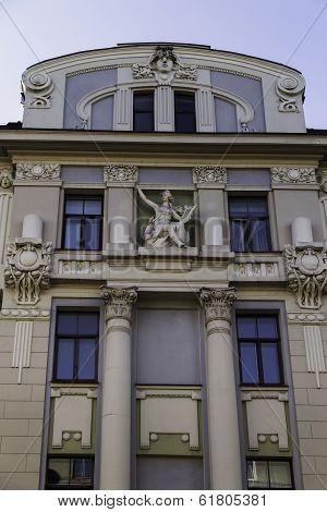 Art Nouveau (jugendstil) Building, Riga Latvia
