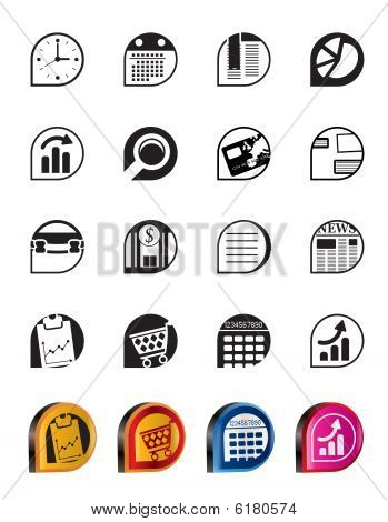 Simple Business and Office Internet Icons