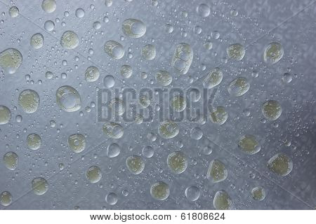 Oil And Water Never Mix On A Glass Pane