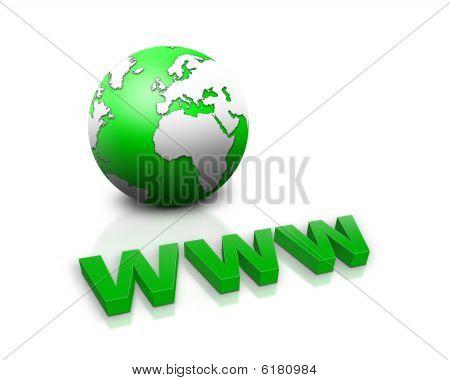 www and a world globe