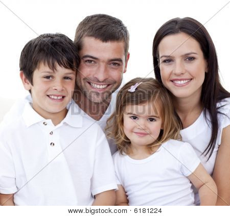 Portrait Of Happy Family Smiling