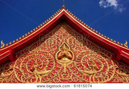 Decoration of a roof Wat Si Saket Vientiane Laos Southeast Asia poster