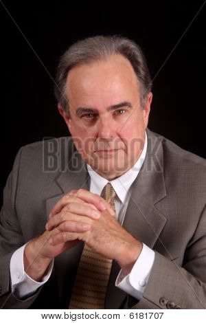 Mature Male With Serious Expression