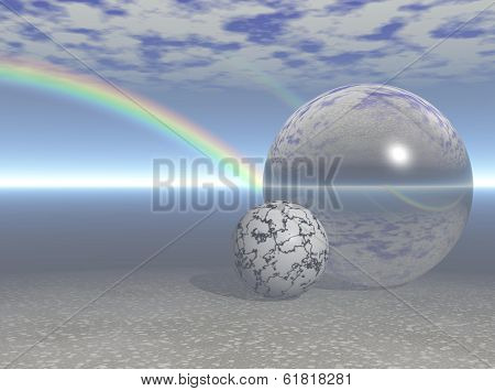 Rainbow Over Sphere