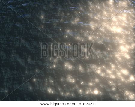 Water sunset refraction