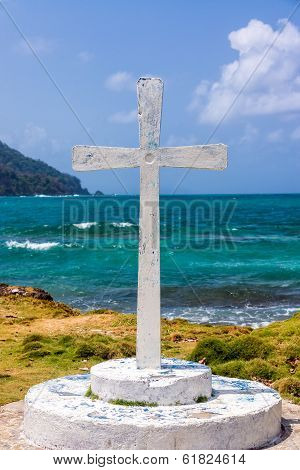 White Cross And Sea