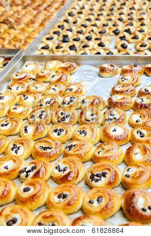 Baked sweets at Mahane Yehuda, famous market in Jerusalem