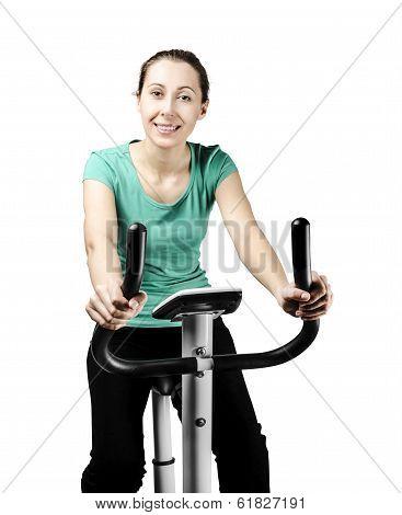 Training On Bike Exerciser