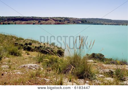 Natural Park Of Las Lagunas De Ruidera In Castilla La Mancha - Spain