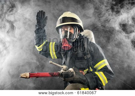 Firefighter At Work