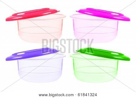 Plastic Containers For Food With Lid Ajar
