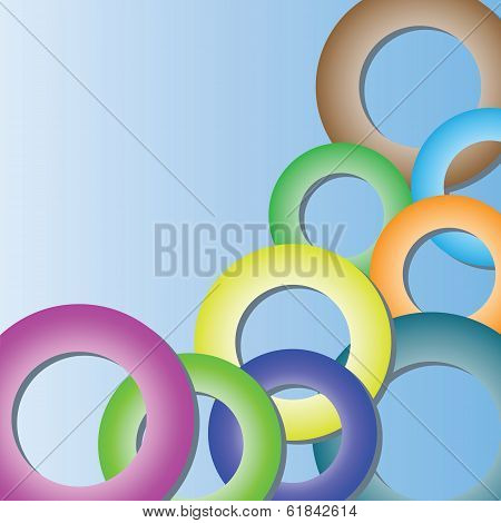 Background With Rings