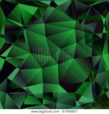 Abstract polygon background. Surface of precious stone poster